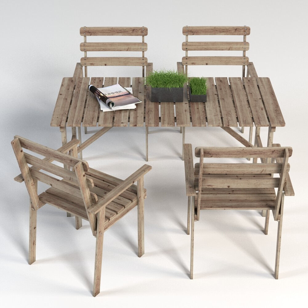 ASKHOLMEN IKEA Garden Furniture Set (table And 4 Chairs)