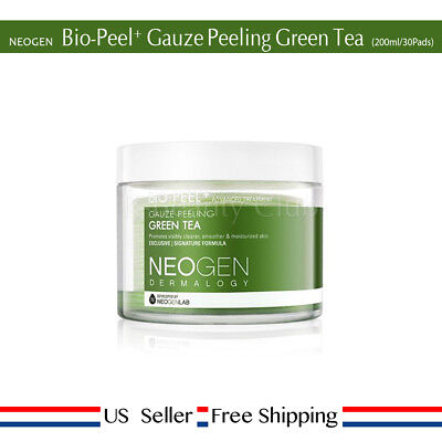 NEOGEN Dermalogy Bio-Peel Gauze Peeling Green Tea 30pads /200ml + Free Sample - Pads Green Tea