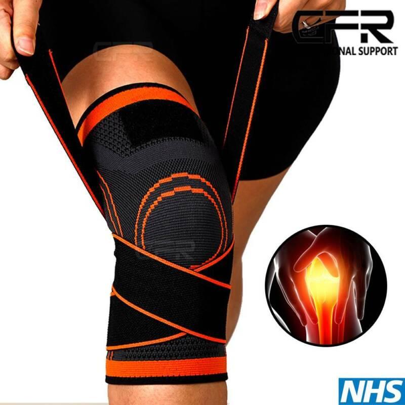 Knee Sleeve Compression Brace Support Sport Joint Arthritis