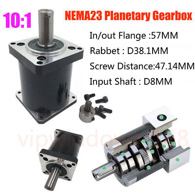 101 Planetary Gearbox Nema23 Gear Head L53mm Stepper Motor Speed Reducer Cnc