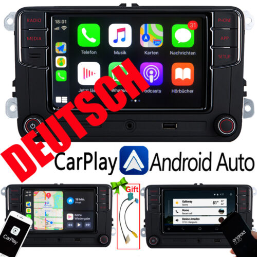 Deutsch Autoradio RCD330+Carplay Android Auto BT RVC Für VW Golf 5 6 Passat Polo