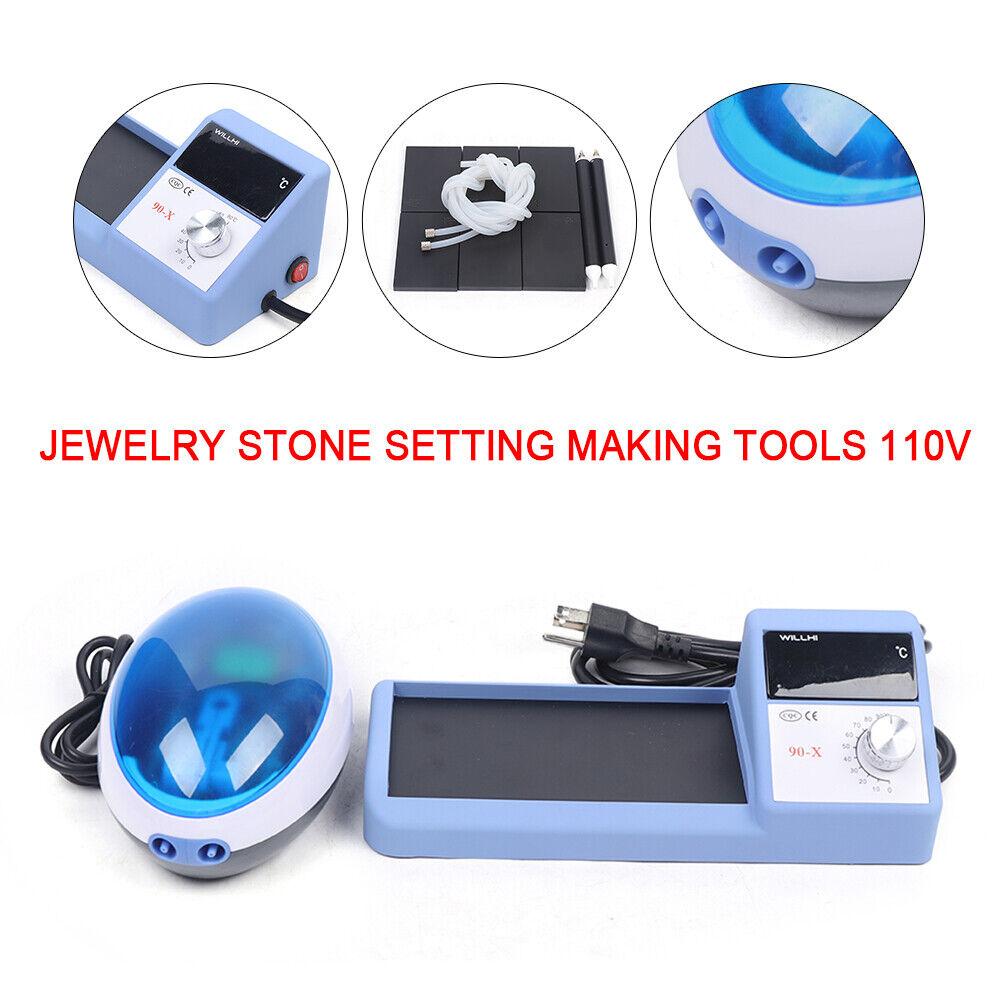 110V Jewelry Stone Setting Tool Thermal Vacuum Micro Wax Setting Machine