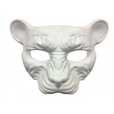Diy Mardi Gras Halloween Costumes (Paint Create Decorate Leopard Cat White Mask Mardi Gras Costume Decor Crafts)
