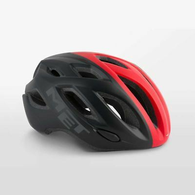 Bicicleta de Carretera Ciclo de Casco Met Idolo - Negro Rojo Tamaño:...