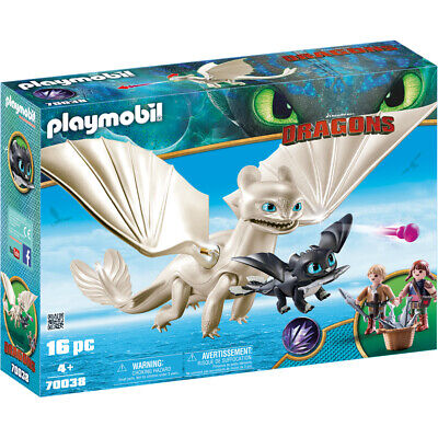 Playmobil 70038 Dreamworks Light Fury With Baby Dragon & Children, Various