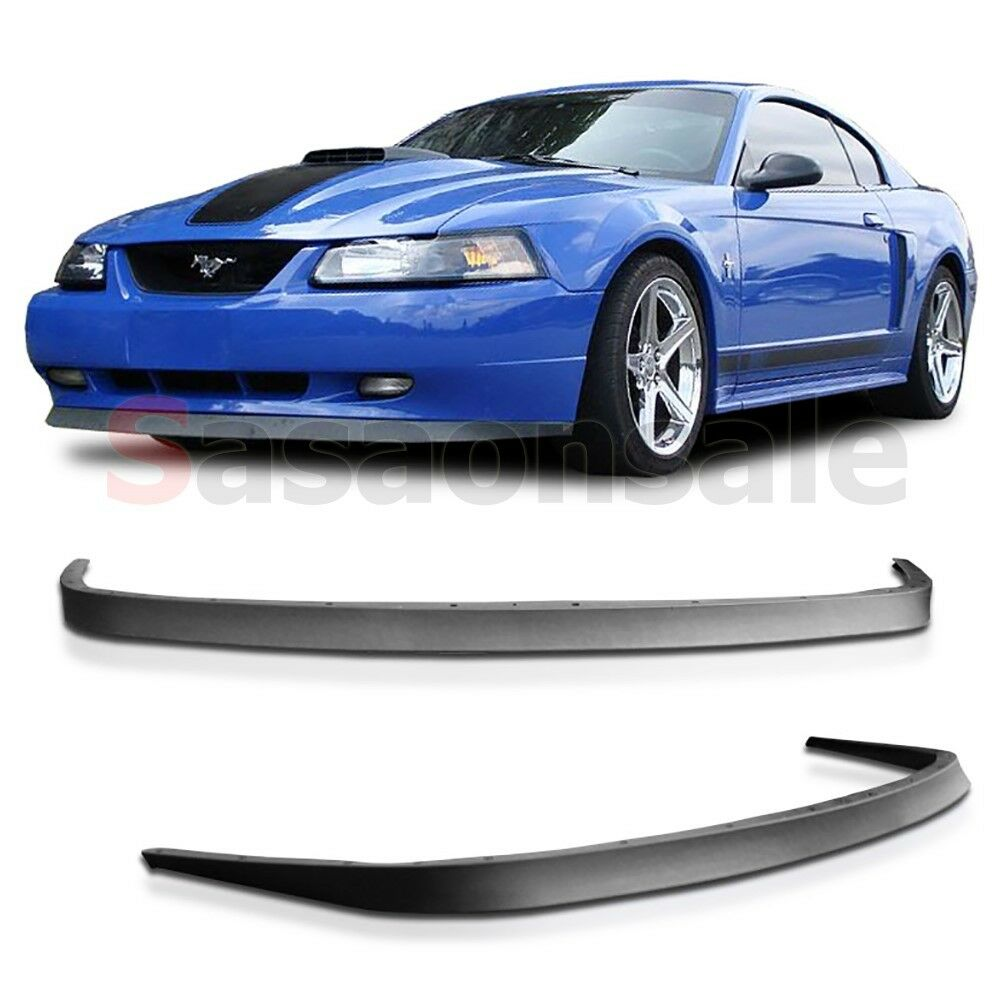 Cervini Mustang Bumper >> 99 00 01 02 03 04 Ford Mustang GT V6 V8 USDM OE Style Front PU Bumper Add-on Lip | eBay