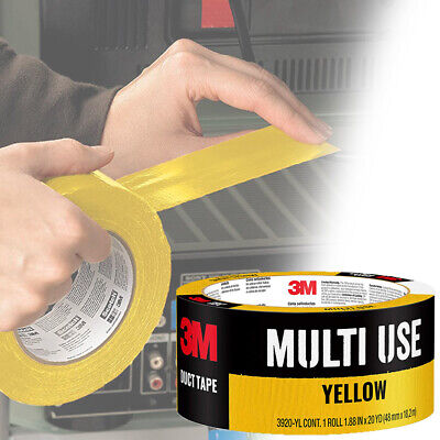 Multi Purpose Industrial Yellow Duct Tape Waterproof Car Labeling Organization