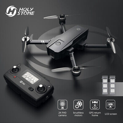 Unsullied Stone HS720 foldable GPS drone 2K camera 2 Batteries brushless 5G FPV +case