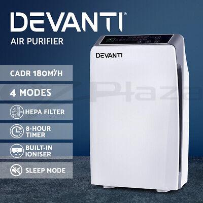 Devanti Air Purifier Purifiers HEPA Filter Home Freshener Carbon Ioniser Cleaner