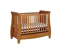Katie Sleigh Mini Cot Bed with Drawer