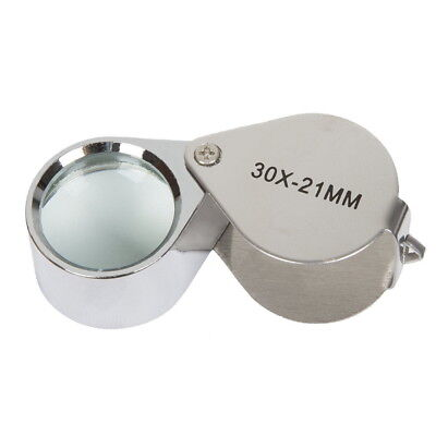 Magnify Glasses (30x 21mm Glass Magnifying Magnifier Jeweler Eye Jewelry Loupe)