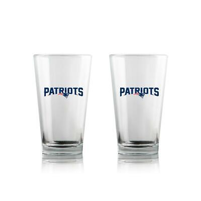TWO (2) NEW ENGLAND PATRIOTS 16oz HIGHBALL GLASSES (GIFT PACK) FROM DUCKHOUSE
