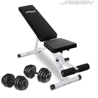 Hantelbank Hantel Kurzhantel Fitnessstation Heimtrainer 30 kg Trainingsbank Set