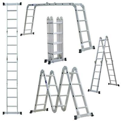 12.519.5ft Multi Purpose 1220 Steps Platform Aluminum Folding Scaffold Ladder