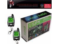 SPY 5000m Motorbike Motorcycle Alarm 2 WAY LCD Transmitters Remote Engine Start