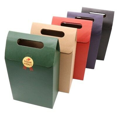 12pcs Kraft Paper Candy Box with Handle for Wedding Party Favors Gifts Boxes Bag - Wedding Boxes For Favors