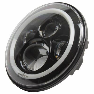 7 INCH LED HEADLAMP HEADLIGHT INSERT. BLACK. SUIT HARLEY VICTORY BOBBER