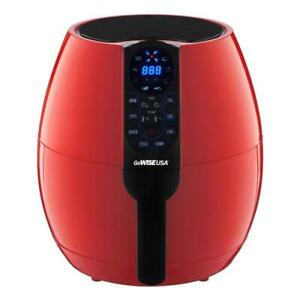 Used GoWISE USA 3.7-Quart Programmable Air Fryer with 8 Cook Presets, GW22639 Condtion: Used, Chili Red, 3.7QT