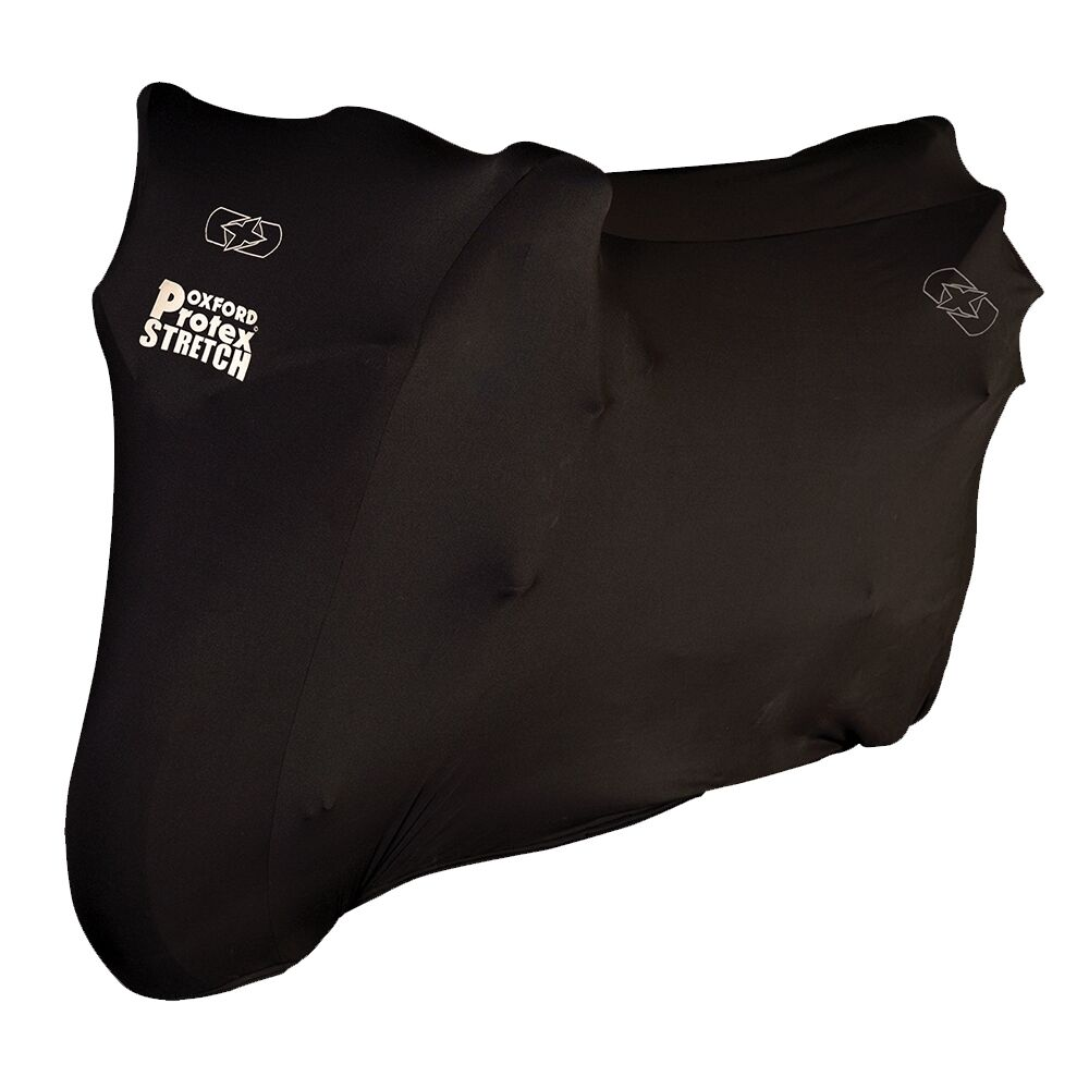 Oxford Protex Stretch fit Indoor Motorcycle Motorbike Cover Black  Medium CV171