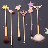 6 Pcs Cardcaptor Sakura Kinomoto Makeup Brushes Set Anime Cosmetics Brush Kits