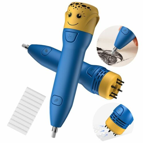 Mini Electric Pencil Eraser Kit Battery Operated Sketch Highlights Automatic