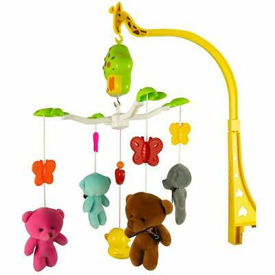 GSI Wind Up Newborn Baby Crib Plush Bear Mobile with  Lullabies