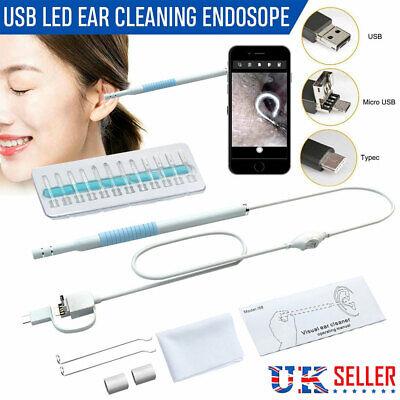 3 in 1 Digital LED Otoscope Ear Camera Scope Earwax Removal Kit Ear Wax Cleaning