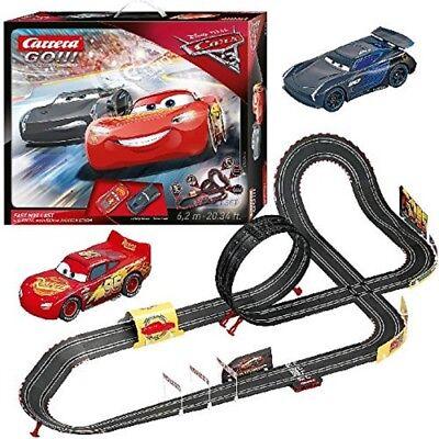 (Cars 3 Carrera RC IR Radio Remote Control Slot Car Race Track Lightning Mcqueen)