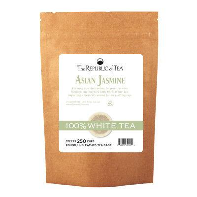 - The Republic Of Tea Asian Jasmine White Tea, 250 Tea Bags, Authentic 100% White