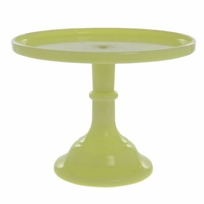 Colored Cake Stand Buttercream Yellow Glass 10