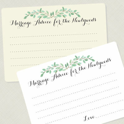50 Wedding Advice Cards, Advice for the Newlyweds, Bridal Shower Games