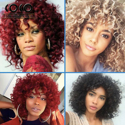 Synthetic Short Afro Curly Hair Wigs for Black Women Heat Resistant Fiber Wigs - Afro Wig
