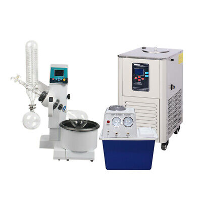 2l Rotary Evaporator Motor Lifting Turnkey Package W Water Vacuum Pump Chiller