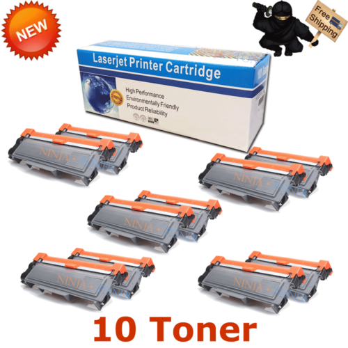 10PK High-Yield TN660 Toner Compatible TN630 For Brother MFC-L2740D DCP-L2540DW