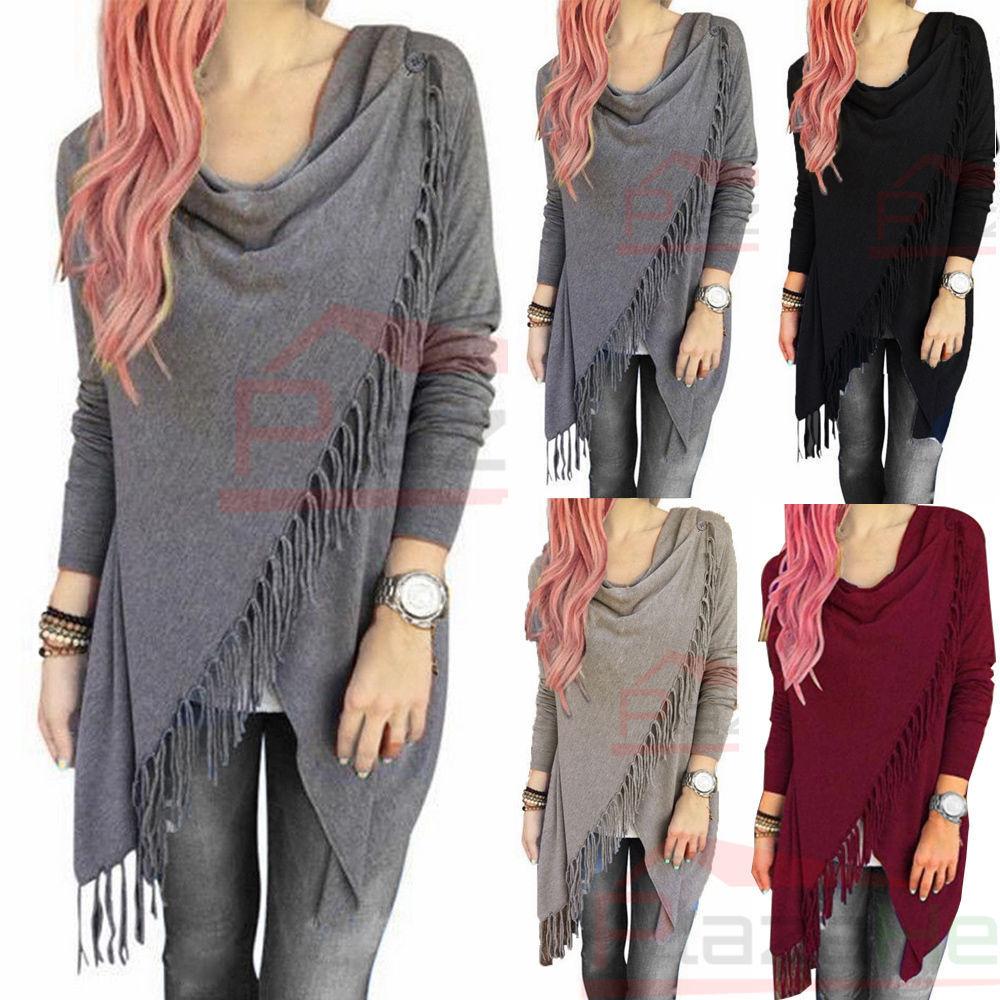 Women's Loose Long Sleeve Cotton Casual Blouse Shirt Tunic T