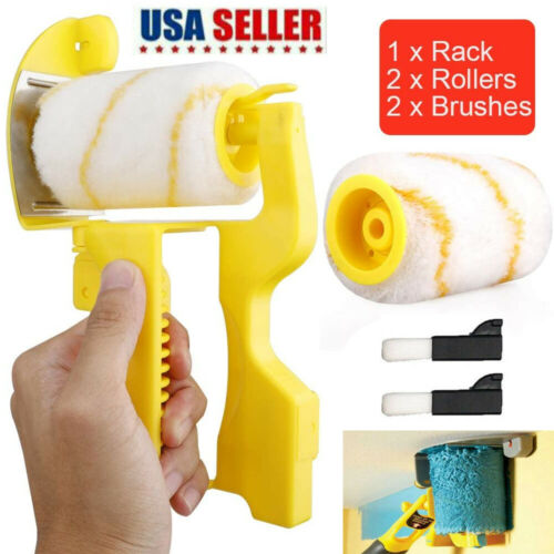 Multifunctional Clean-Cut Paint Edger Roller Brush Tool for Wall Ceiling US 2021