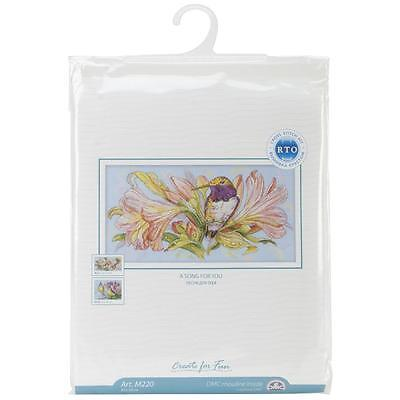 A Song For You Hummingbird Counted Cross Stitch Kit Rto New Spring Bird Flower