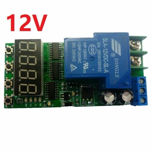 USA! 1PC-12VDC 30 AMP RELAY PLC CYCLE TIMER, MULTIFUNCTION DELAY MODULE !