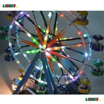 LED Beleuchtungsset für Lego® für 10247 Riesenrad Ferris Wheel USB Ledako  (Usb Lego)