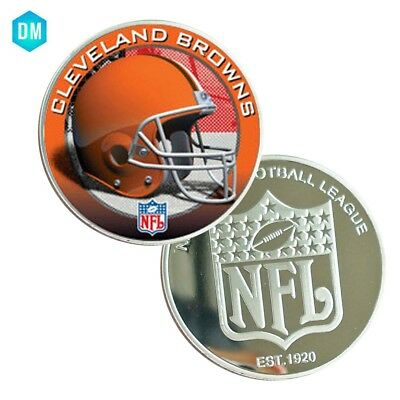 CLEVELAND BROWNS NFl Coin Home Decorative Football Coin American Coin  (Cleveland Browns Decor)