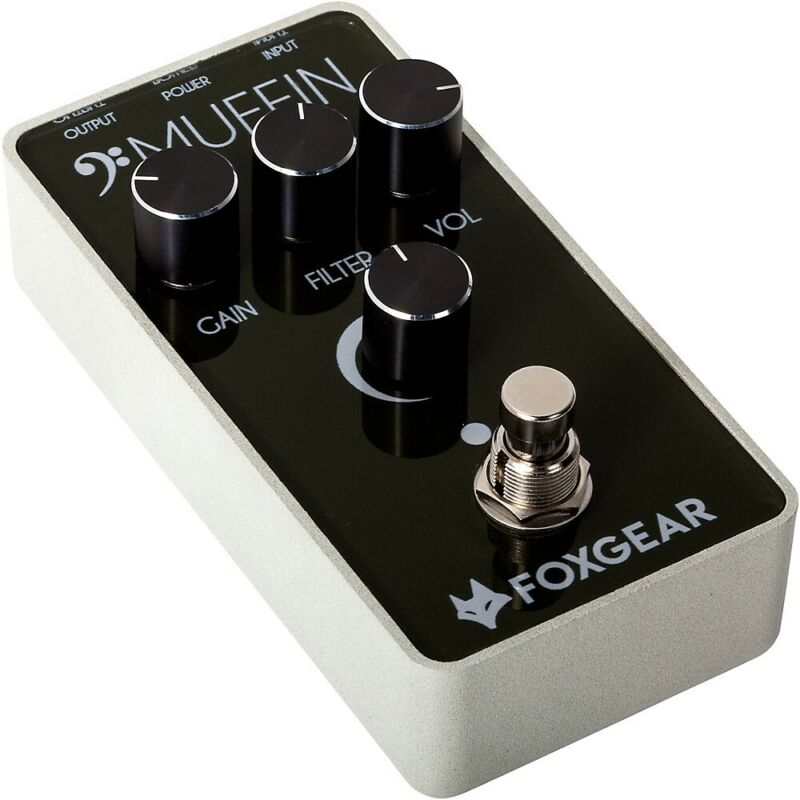 FoxGear Bass Muffin Distortion Effects Pedal Black and White