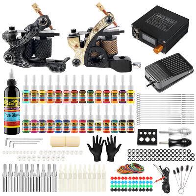 Tätowierung Komplett Tattoomaschine Set Tattoo Gun Kit Ink Netzgerät Griff TK222 Gerät Kit