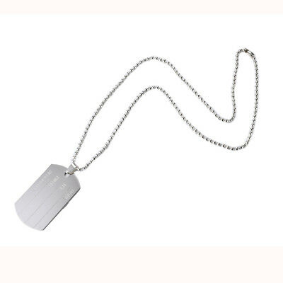 """Men's 19"""" Military Style Name Dog Tag Pendant on Ball Chain, By JADA Collections"""