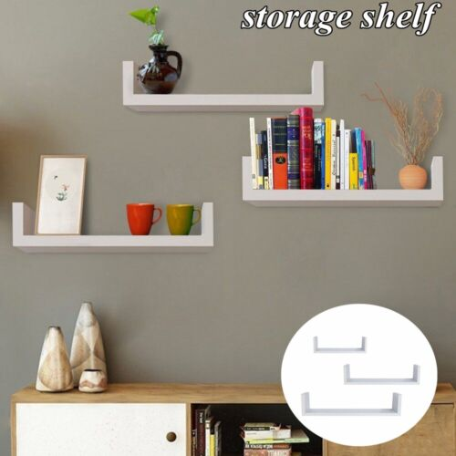 set of 3 floating shelves wall mount