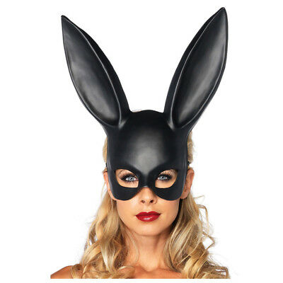 Black Bondage Bunny Rabbit Masquerade Mask Halloween Party - Rabbit Halloween