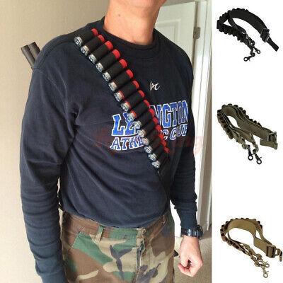 Tactical Shotgun Sling Strap Bullet Holder Hunting Ammo Bandolier Belt Outdoor