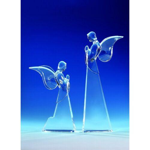 "Butterfly Angel 90056 Set of 2 Figurine Crystal Cut Acrylic Clear 5.5"" / 7.5"" H"