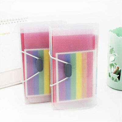 Rainbow Color A6 File Folder Document Receipt Expanding Wallet Bill Folders Hot