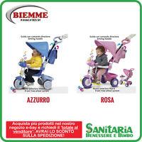 Biemme Triciclo Con Asta Baby Plus Con Suoni Musicali Rosa O Azzurro -  - ebay.it