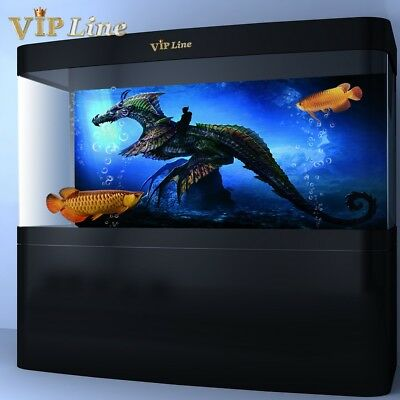 Dragon Knight Aquarium Background Poster HD Fish Tank Decorations Landscape](Knight Decorations)